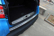2* Inner & Outer Rear Bumper Protector Sill Plate For Renault Captur 2013 - 2018