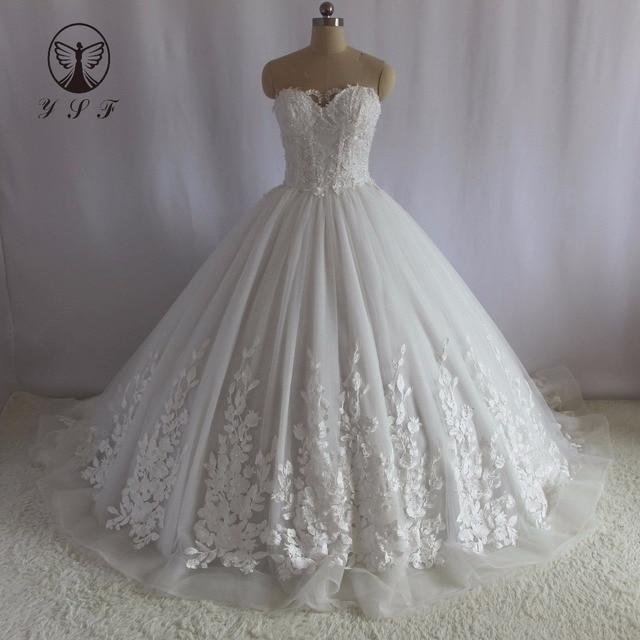 Elegant Bridal Dresses Off the Shoulder Sweetheart Appliqued Lace ...