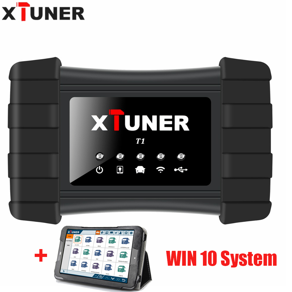 Original XTUNER T1 Heavy Duty Truck Auto Intelligent Diagnostic Tool with WIFI and USB Xtuner T1 with 8 inch WIN10 System tablet