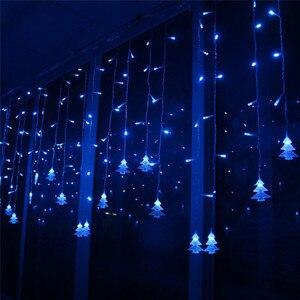 Image 4 - אורות חג המולד חיצוני קישוט 5 m לצנוח 0.4 0.6 m Led וילון נטיף קרח מחרוזת אורות גן חג המולד המפלגה דקורטיבי אורות