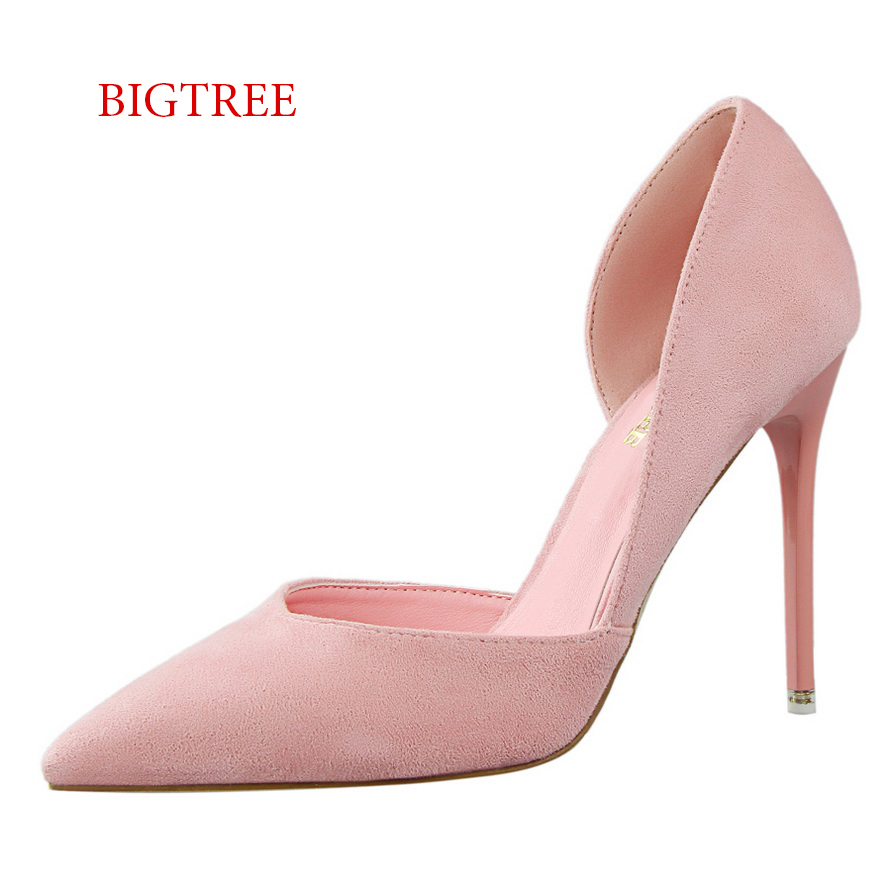 Bigtree Shoes Women Pink Stilettos Small Size High Heels Red Heel ...