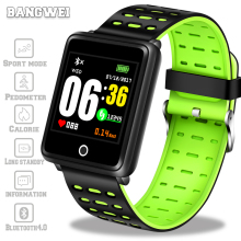 Купить с кэшбэком Smart bracelet OLED Color Big Screen men Fashion Fitness Tracker Heart Rate Blood Pressure Oxygen Smart watch Sport Watch+Box
