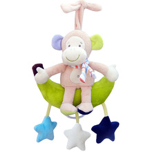 Baby Toys Rattles Kids Soft Plush Toy Animal Clip Bed Hanging Bells Clockwork Music Box for Stroller Baby Crib Bells Toy T027-30