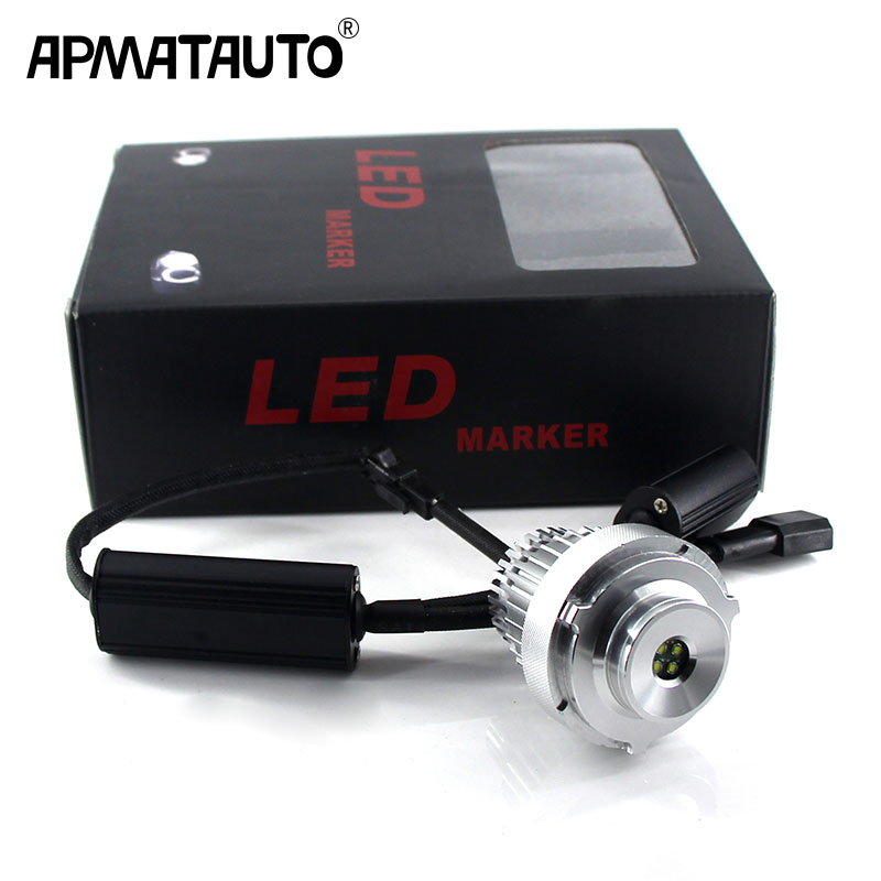 2PCS Angel Eyes LED Marker Lights 40W No Error For BMW 5-Series E60 E61 LCI LED Halo Ring Light Bulb Kits Headlight Car Styling