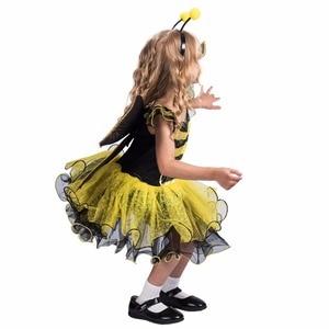 Image 3 - Elaspooky robe abeille jaune, robe à ailes, Costume dhalloween pour petites filles Love Live Cosplay, robe fantaisie de fête de noël