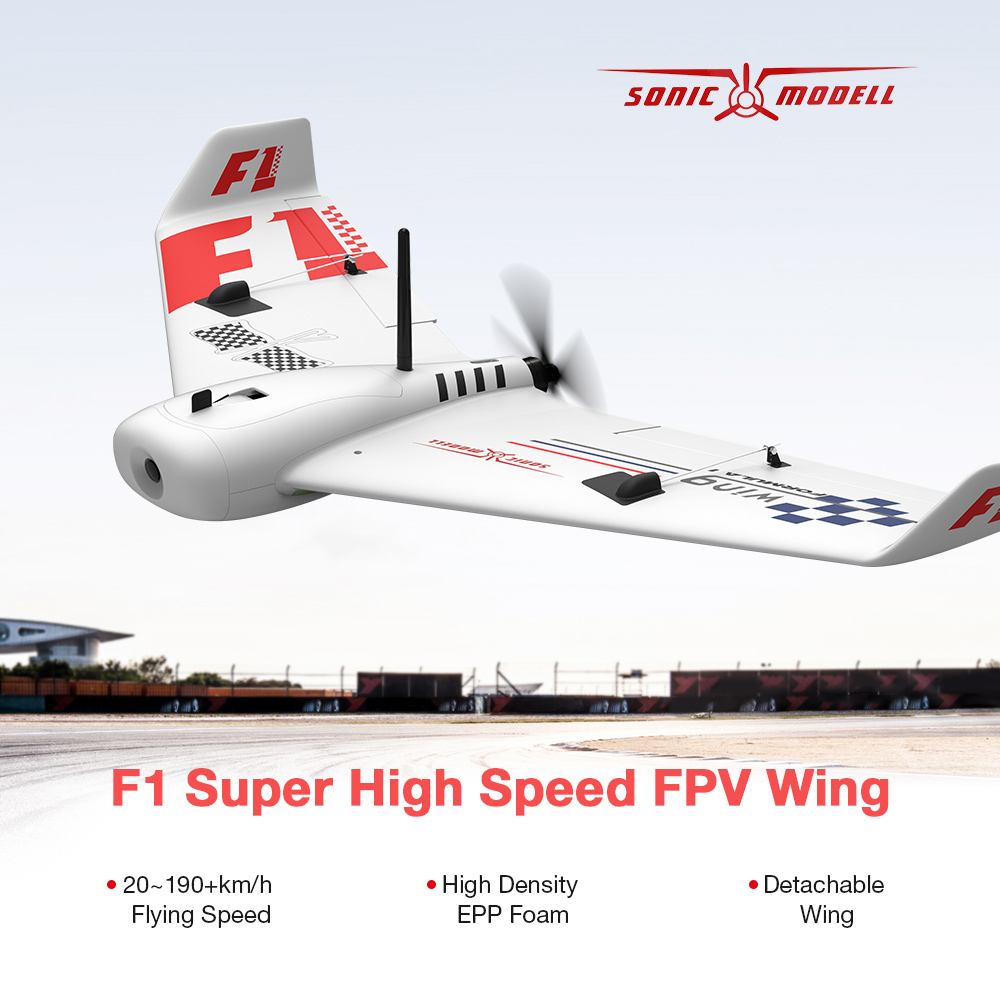 MODELL F1 Wing 833mm Wingspan FPV Drone Super High Speed RC Airplane EPP Delta Wing Racing Aircraft intelligent navigation light v1 led red green white blue wireless for fixed wing delta wing fpv racing drone quadcopter led