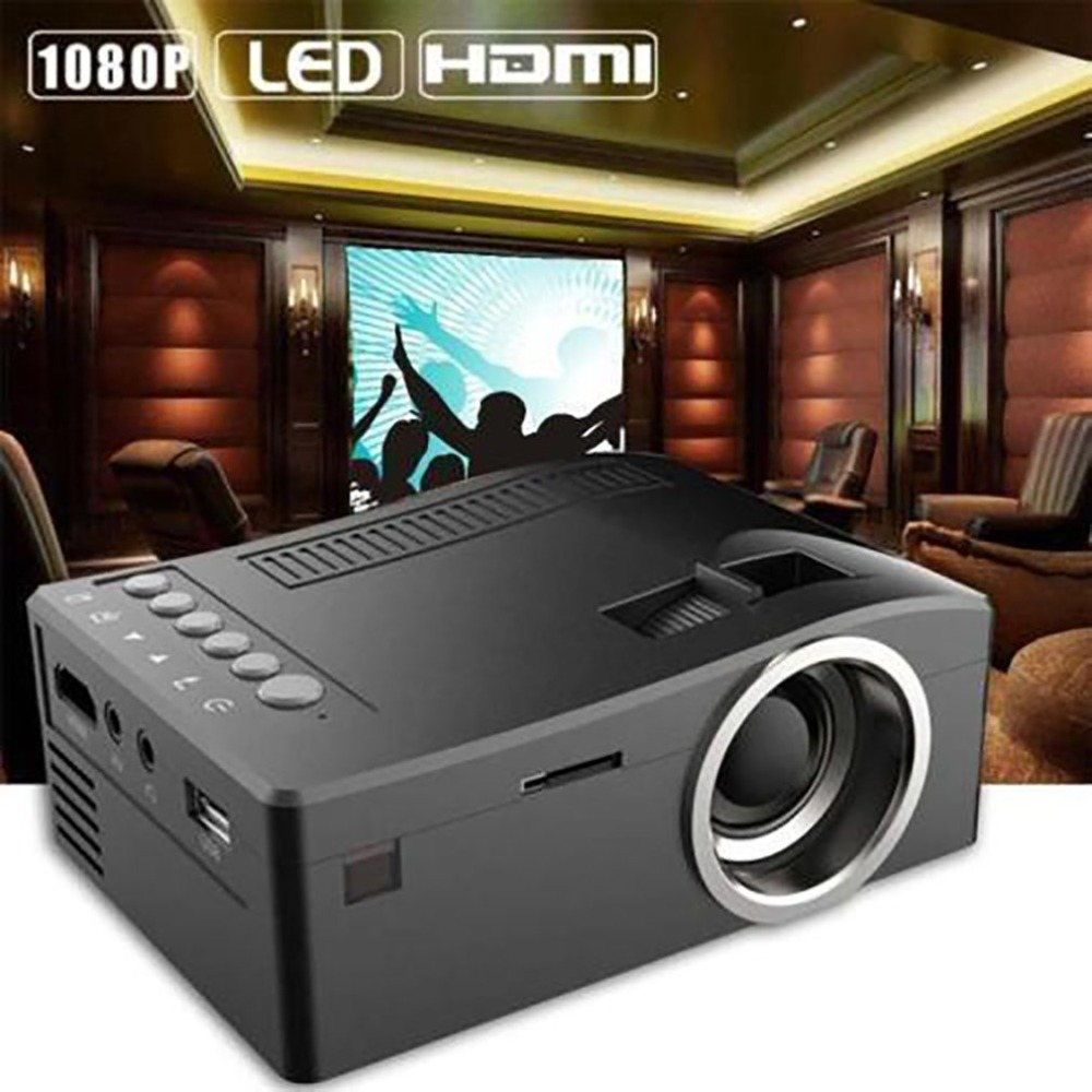 T16 Mini Portátil Com Fio Display LED LCD Projetor de Home Theater Projetor de Cinema HD 1080p HDMI VGA AV USB SD mídia de bolso beamer