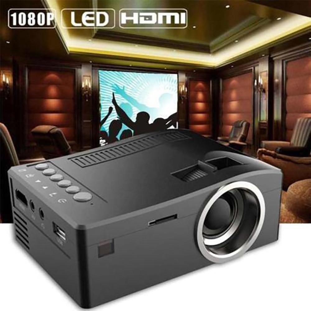 T16 Mini portátil con cable LCD LED Proyector de cine en casa Cine HD 1080p HD Proyector HDMI USB VGA AV SD medios bolsillo beamer