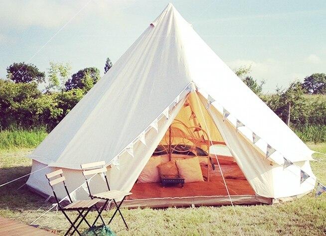 Tente de cloche de toile de coton de 3 M 4 M 5 M 6 M, tente de camping, tente de toile, tente de mariage