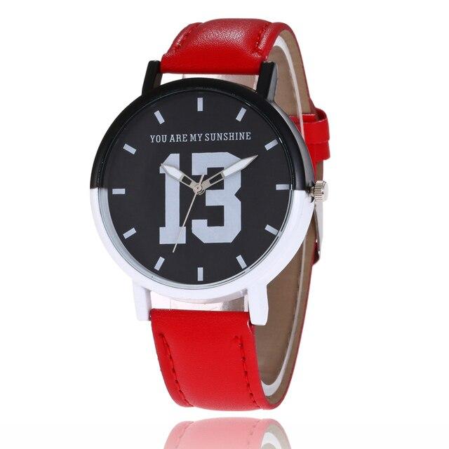 d16bcb4e4b4 Número 13 mulheres marca de Moda vestido de relógios de genebra Relógios De  Couro das senhoras