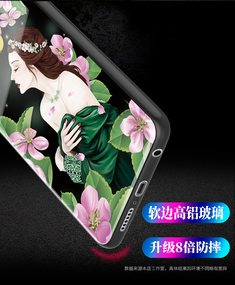 Tempered Glass Case for Huawei Nova 3 Full Cover Case Nova3 Tempered Glass Screen Protection Film for Huawei Nova 3 Girl Case in Fitted Cases from Cellphones Telecommunications