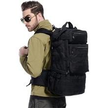 Hombros del morral masculino mochila bolsa de camuflaje de gran capacidad 50 l equipo de alto grado resistente al desgaste bolsa de viaje Best-seller