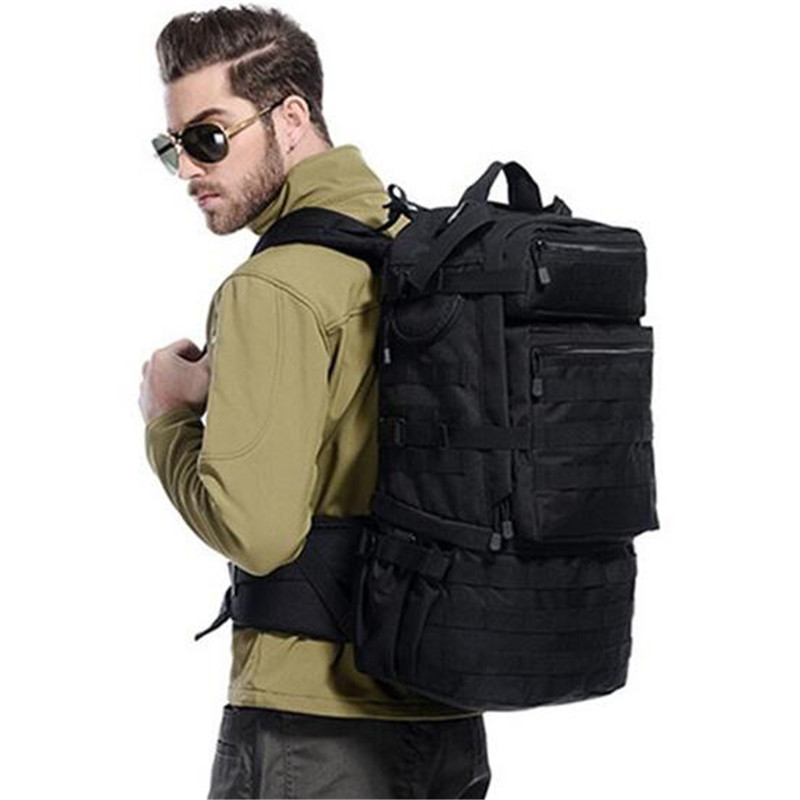 Backpack shoulders male backpack bag camouflage  large capacity  50 l computer  high grade wearproof travel bag Best-selling