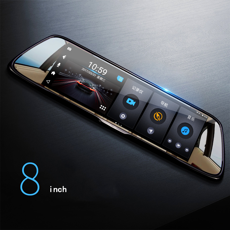 """8 colių 1080p """"Android"""" automobilis GPS DVR vairuotojo įrašymo - Automobilių Elektronika - Nuotrauka 2"""