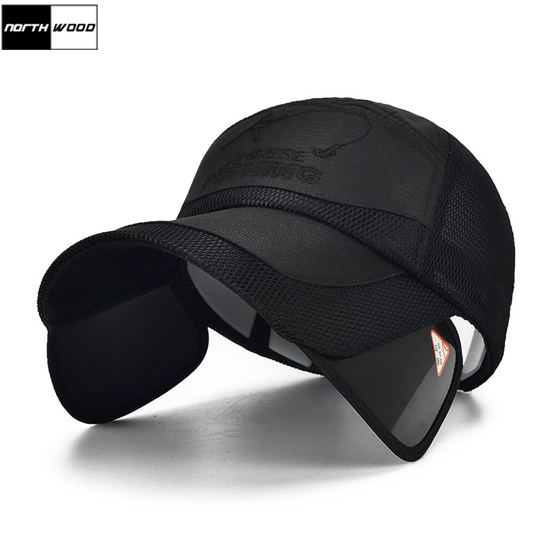 [NORTHWOOD] Flexible Brim Sun Visor Hats For Men Women Summer Breathable   Baseball     Caps   Bone Gorras Snapbacks Dad Hats