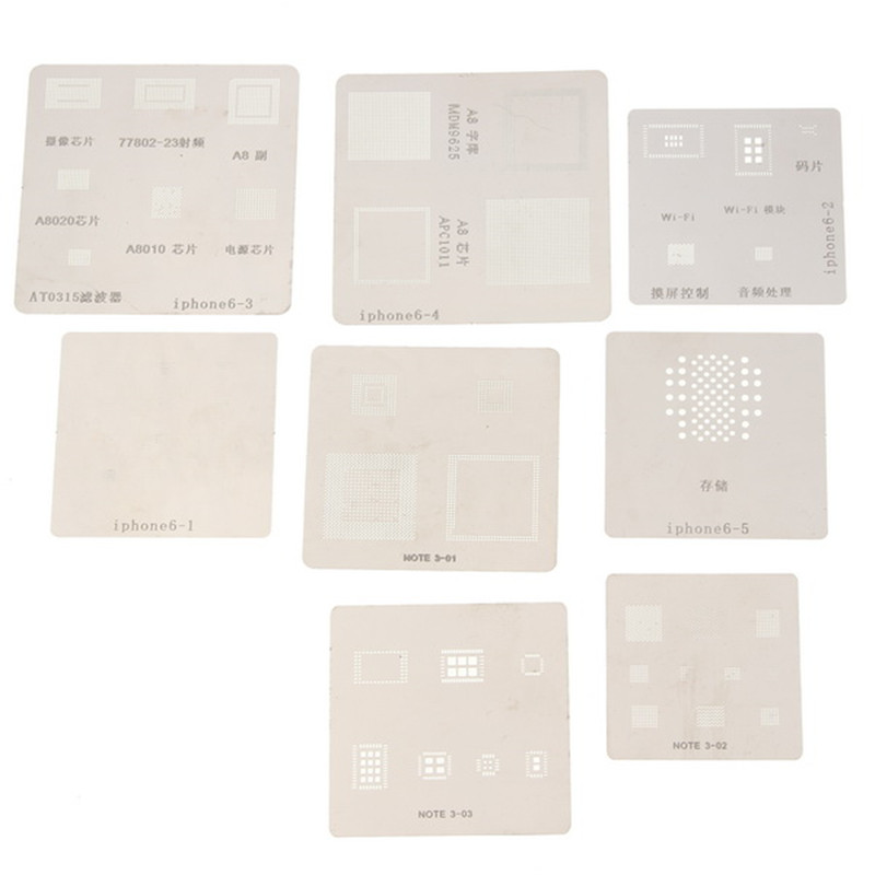 715 Model BGA Stencil Templates Direct Heating Reballing Stencil Kit Reballing Jig For Chip Rework Repair Soldering Tools