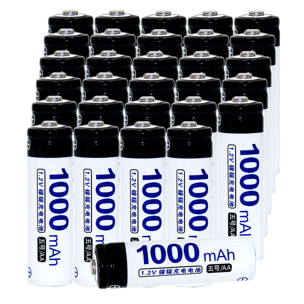 Real capacity! 30 pcs AA 1.2V NIMH AA rechargeable battery 1000mah for camera razor toy remote control flashlight 2A batteries