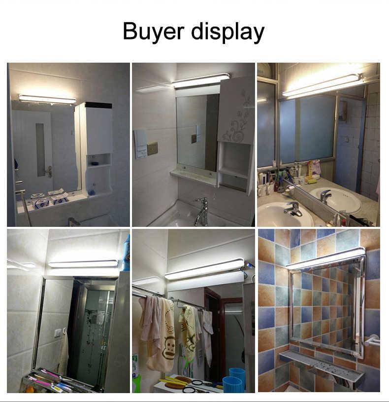 LED miroir lumière 40/50cm 9 W/12 W AC220-240V étanche moderne cosmétique acrylique applique murale pour salle de bains lumière applique lampe ZJQ0004