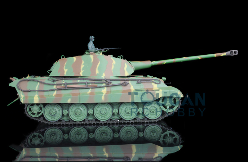 2.4Ghz HengLong 1/16 Scale German King Tiger RC RTR Tank Plastic Version 3888 henglong 3869 3879 3888 3899 rc tank 1 16 parts steel drive system driving gear box free shipping