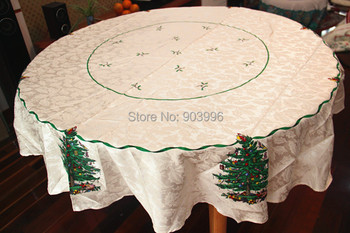 Free shipping-RD 175cm-Christmas jacquard tablecloth round Buu paragraph style cloth tablecloths original single
