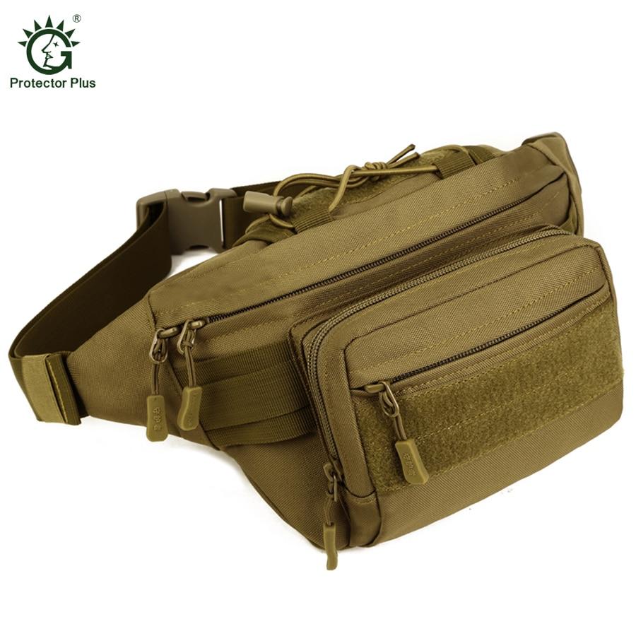 Tactical Molle Bag წყალგაუმტარი წელის ჩანთა Fanny Pack საფეხმავლო თევზაობა სპორტული ნადირობა წელის ჩანთები ტაქტიკური სპორტული ჩანთა ქამარი