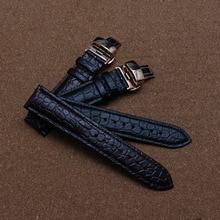 20 мм 22 мм Ремешок Для Часов Ремни Черный Коричневый Натуральной Кожи Часы Аксессуары Для Бренда Мужчин Часы Моды ремень крокодил зерна