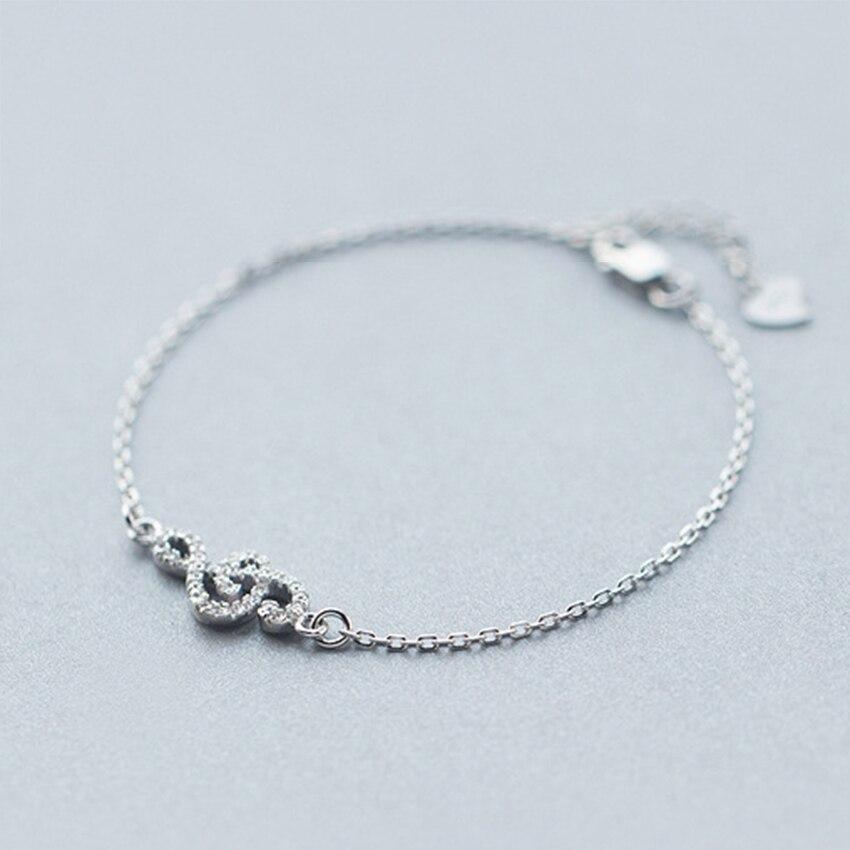 Kinitial 1Pcs 925 Sterling Silver Music Symbol Narukvice za žene CZ - Modni nakit - Foto 3