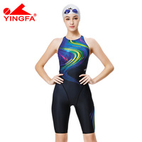 Yingfa 2016 New Competition Knee Length Waterproof Chlorine Low Resistance Women S Swimwear Girls Training Racing