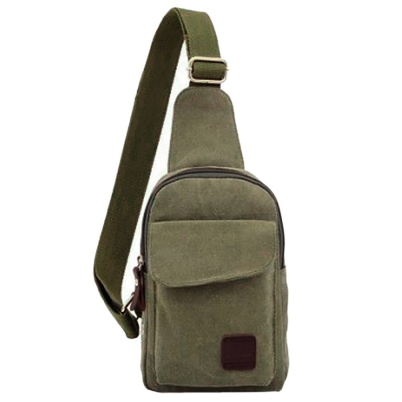 Outdoor Sports Military Messenger Bag Travel Rucksack Hiking Sport Chest Bag Canvas Small Crossbody Back Pack