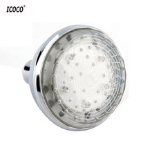 ICOCO LED Light 7 Color Changing Water Glow Shower Head Bathroom Home 7 colors are displayed circularly and gradually(China)