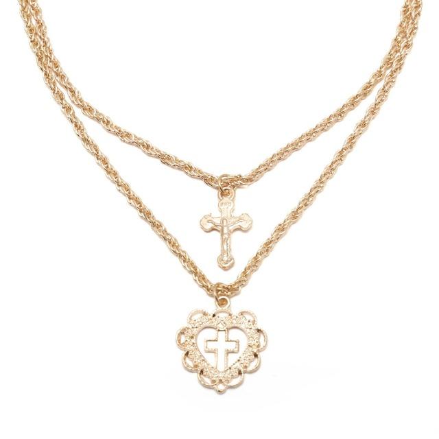 Collier halsband med Jesus kors.