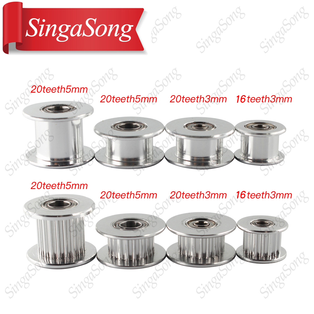 5pcs-gt2-idler-timing-pulley-16-20-tooth-wheel-bore-3-5mm-aluminium-gear-teeth-width-6-10mm-3d-printers-parts-for-reprap-part