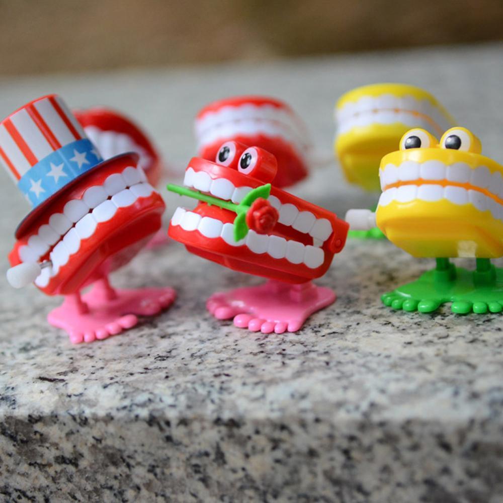 Funny Cartoon Teeth Denture Foot Wind Up Clockwork Educational Kids Spring Toy Intelligence Developmental Toys Gift For Children