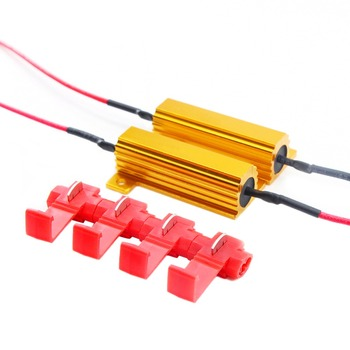 2 sztuk 12V światło ostrzegawcze LED Canceller odporność na obciążenia dekodowania samochodów włącz światła sygnalizacyjne Fix błąd Canbus rezystor obciążenia tanie i dobre opinie Dekoder CN (pochodzenie) 50W 6R LED load resistance decode