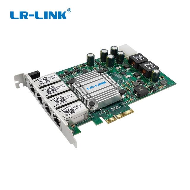 LR Link 9724HT POE Quad Port POE+ Frame Grabber Gigabit Ethernet RJ45 Video Capture Card Intel I350AM4 Nic