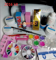 2018 Professional Full Set UV Gel Kit Nail Art Set + 9W Curing UV Lamp Dryer Curining