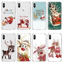 4ed6028e31c Eouine Reindeer capa 4S 5 5S SE 6 S 7 8 Plus Funda Coque Soft 8 plus X For  iPhone