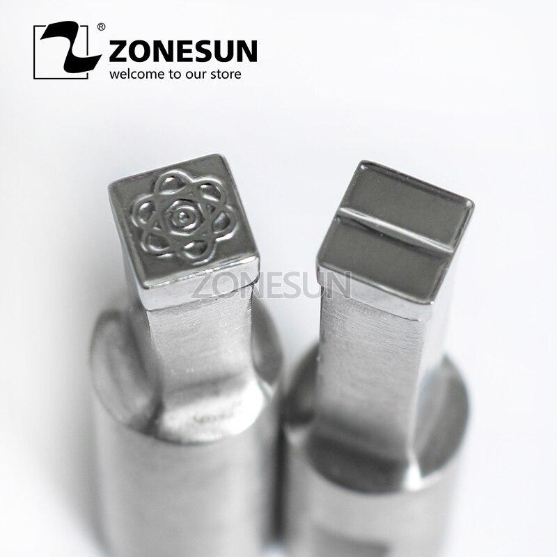 ZONESUN Flower logo custom candy milk tablet slice die Stamp precision punch die mold sugar tablet press tool TDP 0/1.5/3 стоимость