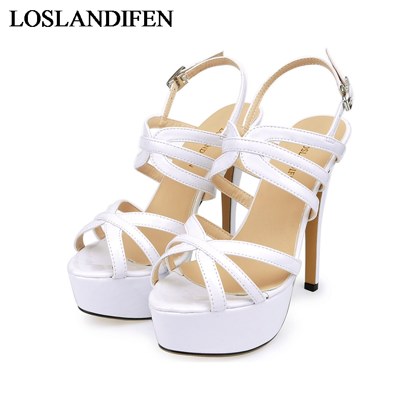 Fashion Platform Sandals 2018 New Designer Women Shoes Thin High Heels Sandal Wedding Party Dress Ladies Shoes NLK-C0069 2017 fashion stiletto heel sandal army green cross weaving sandals wedding party dress shoes women wholesale drop shipping