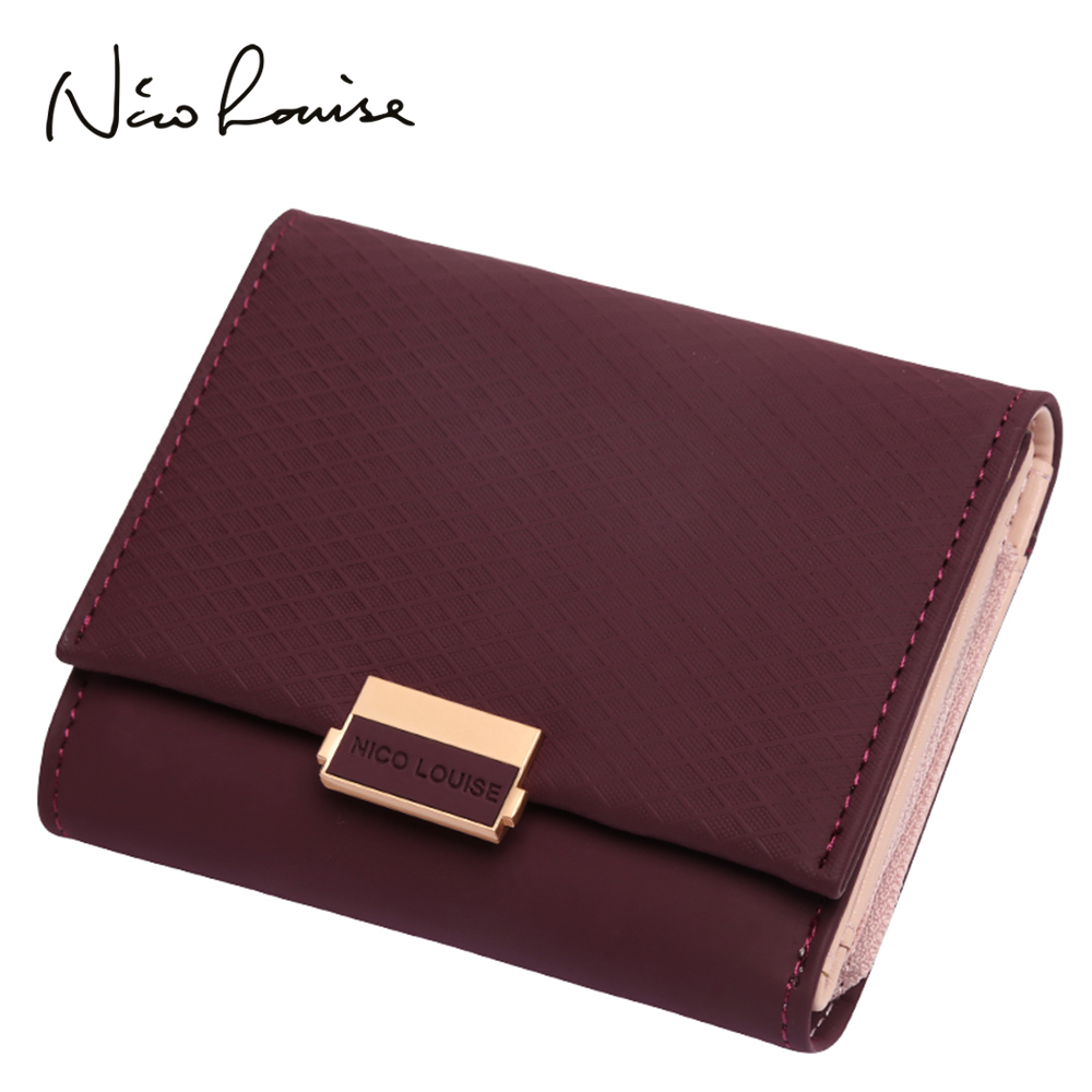 2018 Luxury Wallet Female Leather Women Leather Purse Plaid Wallet Ladies Hot Change Card Holder Coin Small Purses For Girls(China)