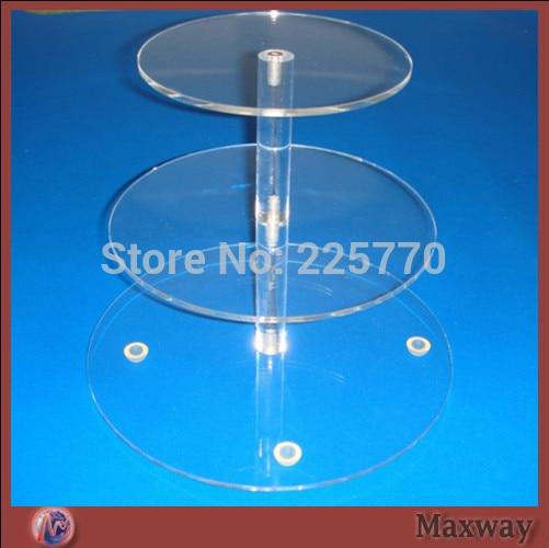 3 Tier Round Acrylic Cupcake Stand, 3 Tier Round Perspex Cupcake Stand, 3  Tier Round Plexiglass Cupcake Stand