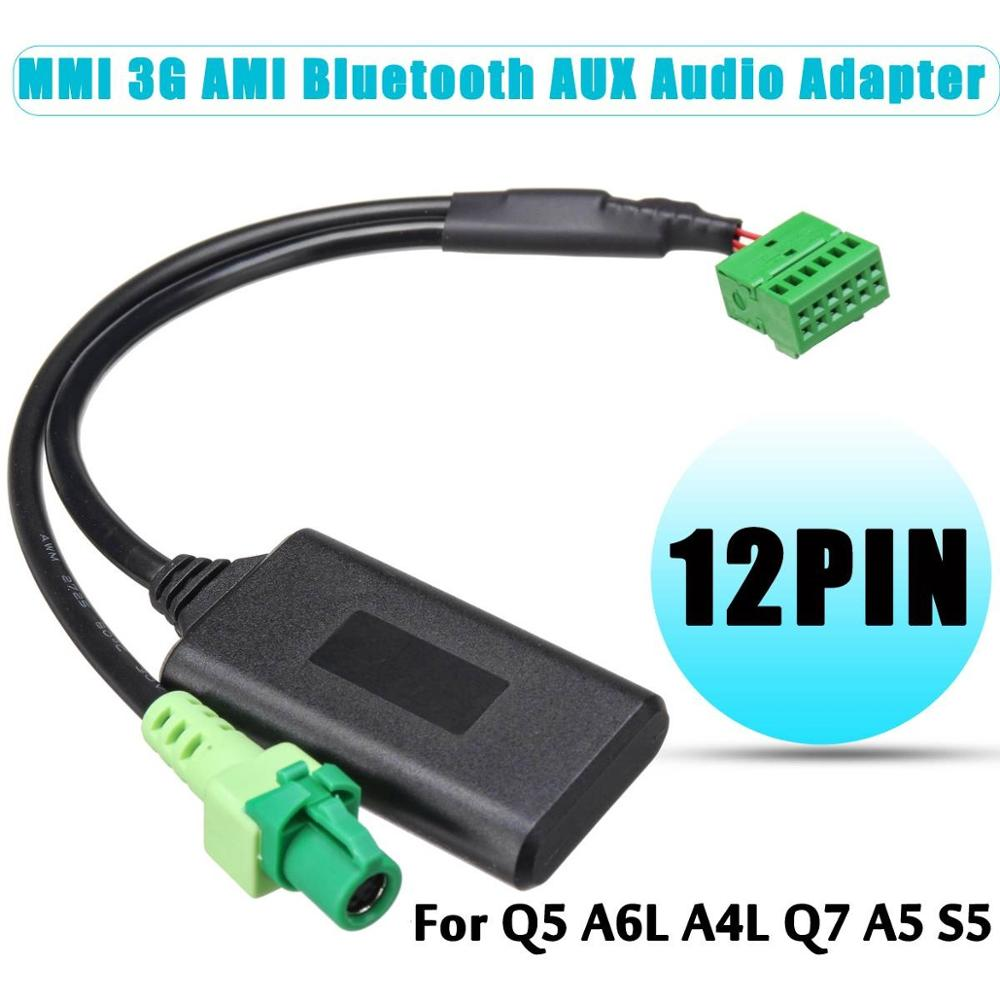 MMI 3G AMI 12-pin Bluetooth AUX Cable Adapter Wireless Audio Input For Audi Q5 A6 A4 Q7 A5 S5(China)
