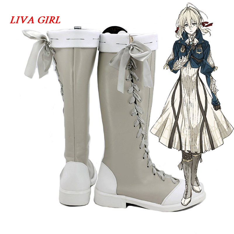Violet Evergarden Cosplay Shoes Violet Evergarden Boots Customer Size Made Anime Cosplay