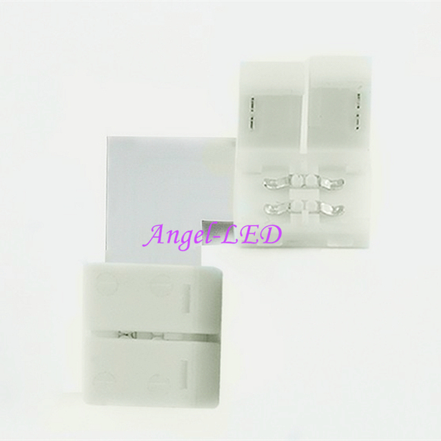 10set 2pin 3pin 4pin 5pin LED Connector L Shape For connecting corner right angle 8mm 10mm 12mm 5050 LED Strip Light Tape Ribbon