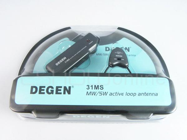NEW DEGEN DE31MS INDOOR ACTIVE SOFT LOOP ANTENNA FOR MW & SW