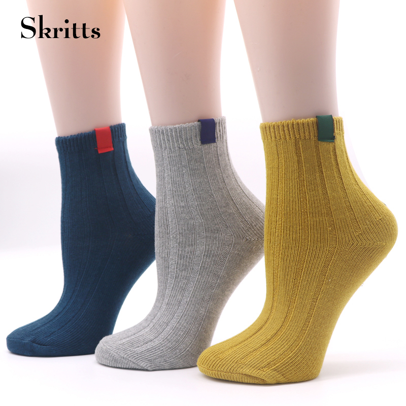 Skritts Compression Socks for Women Multicolor Casual Ankle Sock Ladies Autumn Winter Socks Fashion Lovely Keep Warm Sock 3 Pair