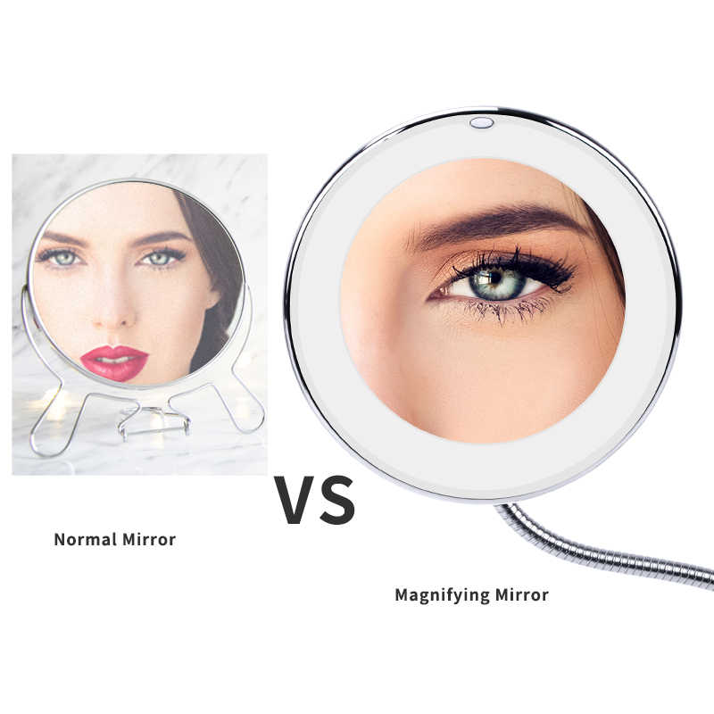 360 Degree 10X/5X Folding Mirror Rotating Makeup Mirror My Flexible Mirror Magnifying Round Vanity Mirror Dropshipping