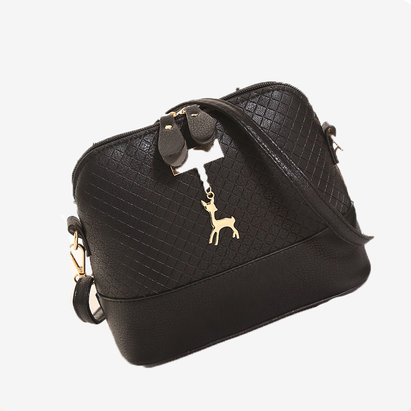 Fashion HOT SALE 2018 Women Messenger Bags Fashion Mini Bag With Deer Toy Shell Shape Bag Women Shoulder Bags fashion women mini messenger bag pu leather shell shape bag crossbody shoulder bags with deer toy popular