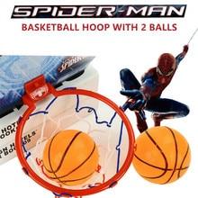 Disney Marvel Spiderman Kids Educational Fun Sports Basketball Board Hoop Set Kids Outdoor Toy For Children Boys With 2 Balls недорого