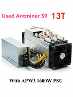 Usado bitmian s9 13th/s com apw3 1600 w asic bitcoin btc mineiro antminer s9 16nm btc mineiro econômico do que whatsminer m3 m3x null     -